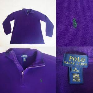 Polo Ralph Lauren Quarter Zip Purple Sweater XL